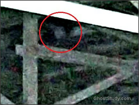 close up ghost in rafters spirit haunted