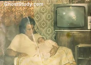 ghost spirit in TV screen haunted