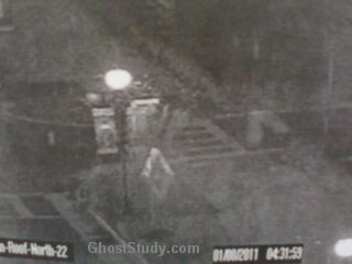 ghost under streetlight street light scary realsecurity cam